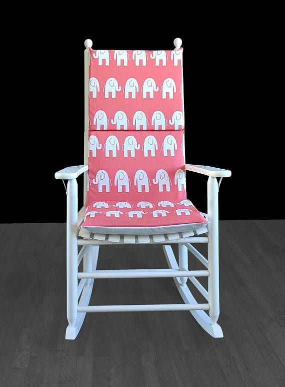 Coral Pink Elephants Rocking Chair Covers Kids Nursery Cover