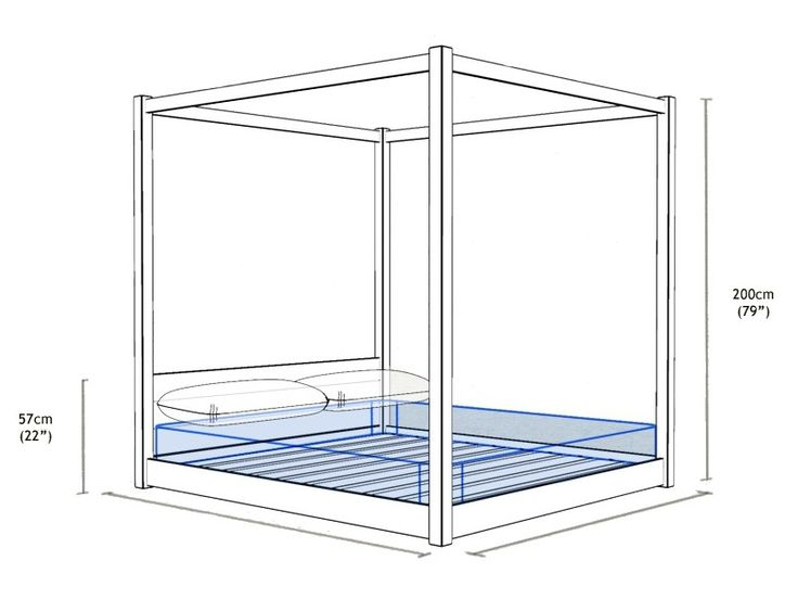 Деревянная кровать с балдахином LOW кровать с балдахином на переспать кровати