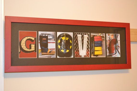 Personalized Firefighter Letter Art 6 letter by FiremanFotoArt, $90.00