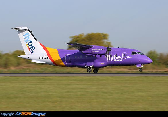 G-CCGS is the first of the Dornier 328 fleet to wear the new Flybe scheme.