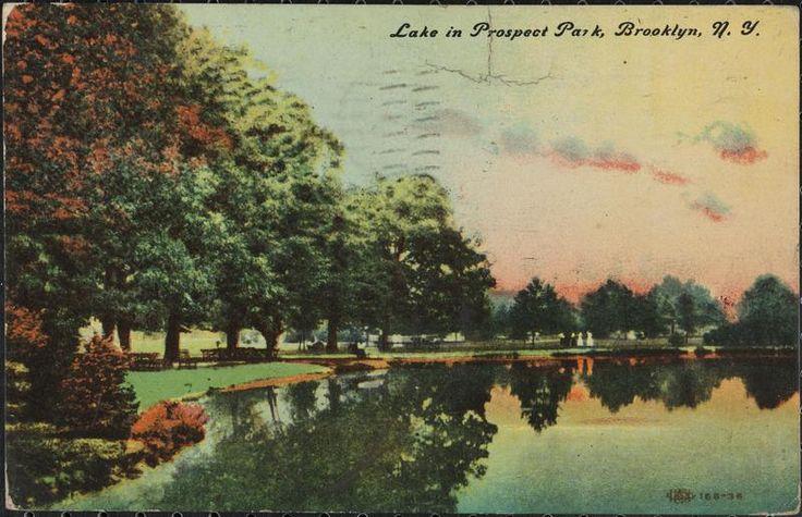 Lake in Prospect Park, Brooklyn, N. Y.