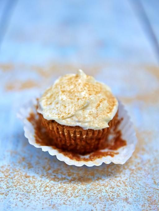Vegan ginger cupcakes  Simple spiced cupcakes, topped with a deliciously rich cream cheese icing
