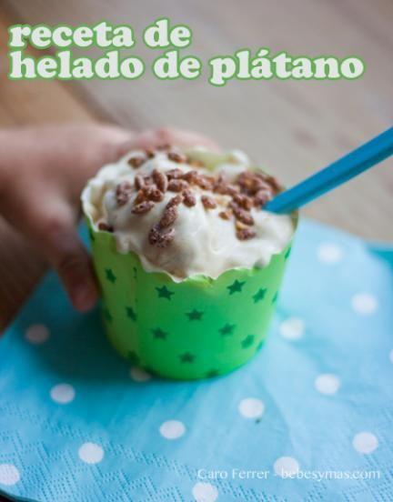 receta de helado de plátano