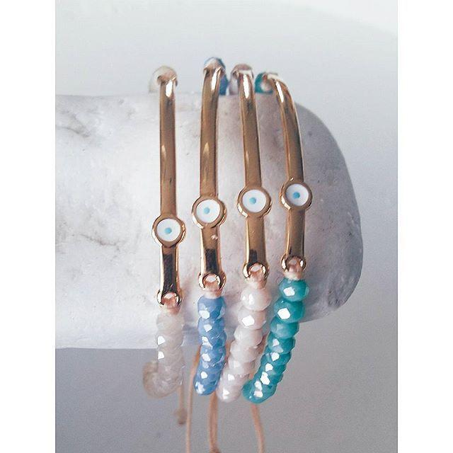 •eye candy•  #ohsocutethings #handmade #jewelry #greekdesigners#greekdesigner#madeingreece #fashion#fashionista #fashionjewelry #fashiongram #happy #accessories #love #cute #jewelrygram #photooftoday #ootd #wearthistoday#friday  #instadaily #sun #summer #bracelet #instafashion #boho #beads #instagood #styles#evileye