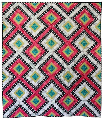 This simple paper-pieced pattern is a modern, more geometric take on a classic string quilt. • 8-page, full-color pattern • Full-size paper-piecing templates ar