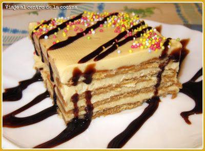 Tarta de Galletas con Café /  500 gr de margarina. 240 gr de azúcar. 2 vasos de agua. 4 sobres de café soluble. 1 chorrito de ron o brandy. 2 paquetes de galletas