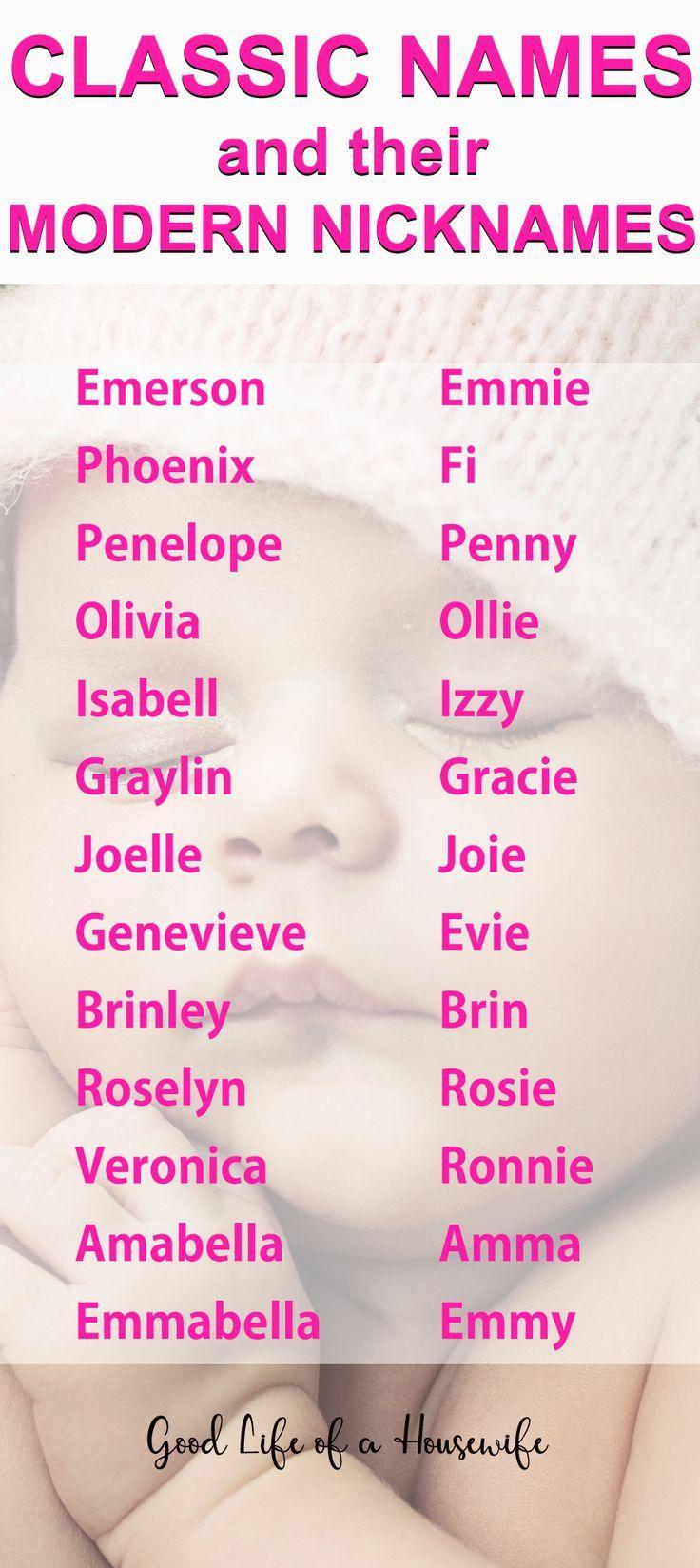 Girl friend nick names