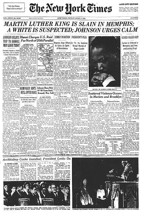 martin luther king jr assassination thesis statement Claim: the us government was sued and found culpable for the murder of martin luther king, jr, but the news media refused to report it.
