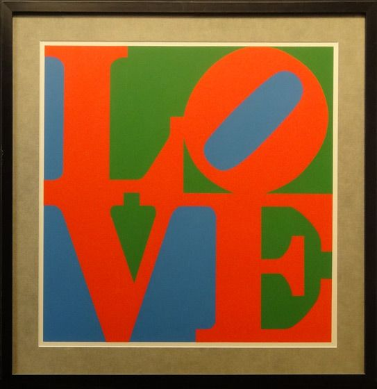 Love Poster By Robert Indiana Image Size 26 X 26 Inches Frame Size