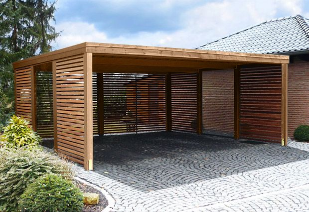 1000 images about backyard carport storage on for Garage with carport designs