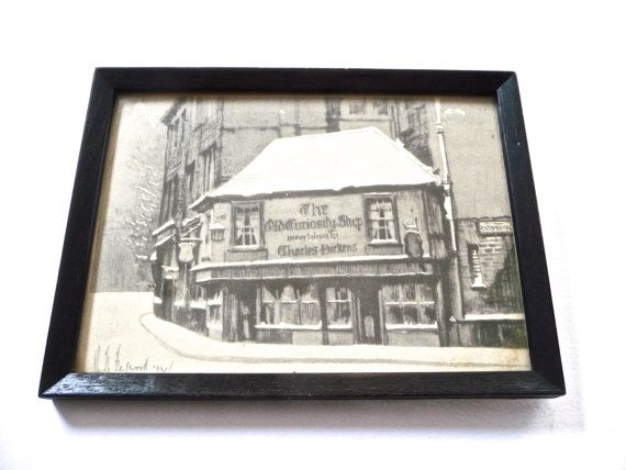 The Old Curiosity Shop Vintage Framed Print