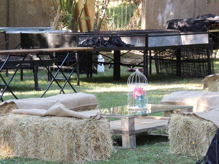 lounge de pallets y fardos