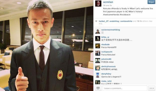 Keisuke Honda: le prime parole del numero 10 del Milan in Italia