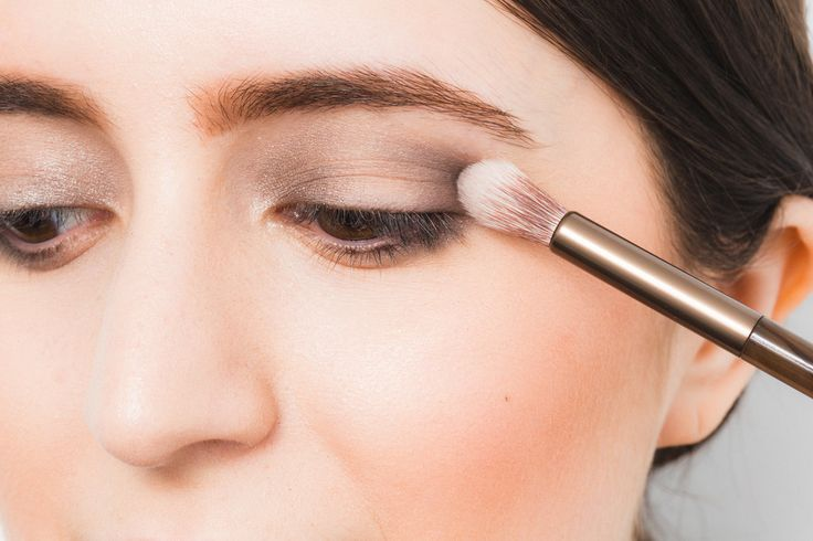 Makeup Tip: Instead of using a windshield-wiper motion to blend eye shadow, sweep the brush in a circular pattern. The typical side-to-side move can leave harsh lines on the lids, but circles give a softer effect.