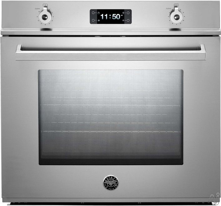 "Bertazzoni F30PRO 30"" Single Electric Wall Oven with 4.1 cu. ft. Dual Fan Convection Oven, Pyrolytic Self Clean, 4 Heating Elements and Combo Control Interface"