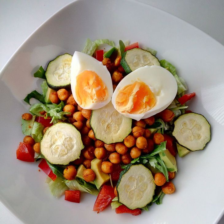 Quick dinner half warm salad_simplyandhealthy