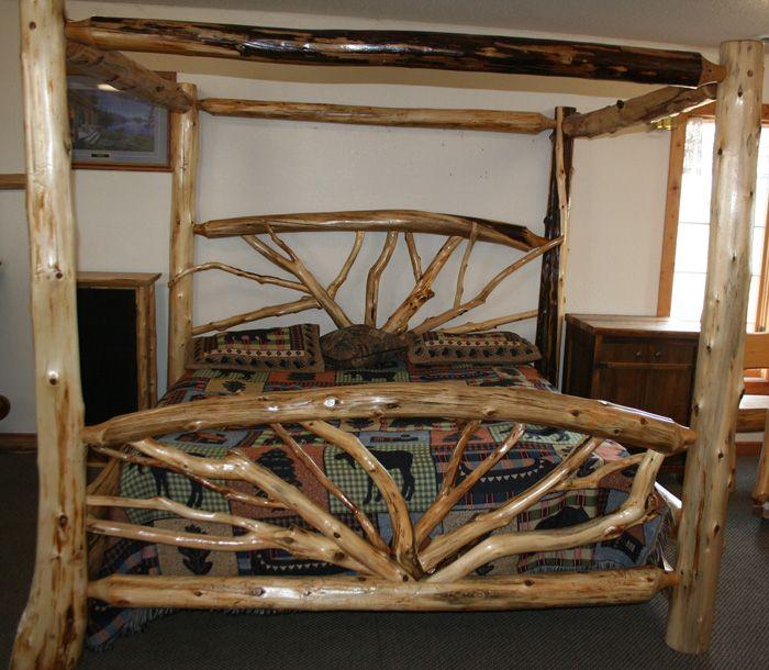 Best 20 Log Bed Ideas On Pinterest Log Bed Frame Log Furniture And Timber Bed Frames