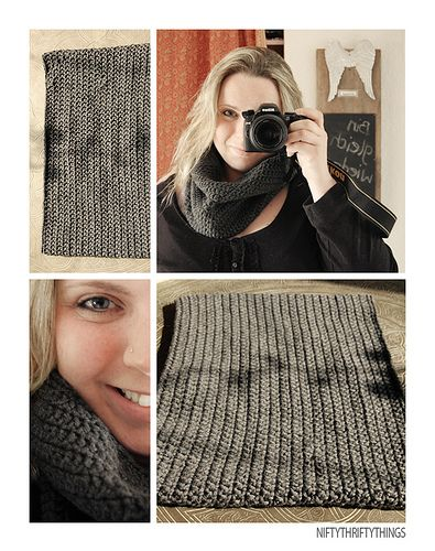 Endless scarf.  Easy, no pattern.  Someday I'll knit again...