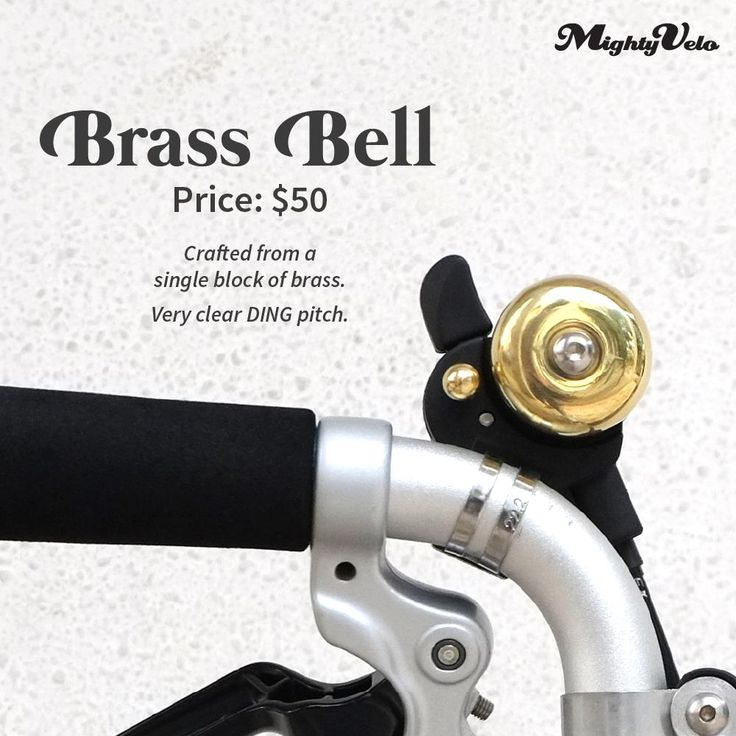 Our handcrafted brass bell is back in stock!   A beautiful DING pitch awaits!   Retails at SGD50 (includes installation). #brassbell #bell #brompton #mightyvelo