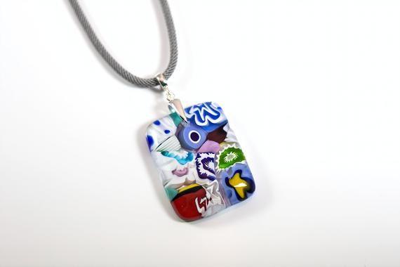 handmade women/'s necklace glass pendant Murano glass women/'s pendant Murano glass necklace Murano glass jewelry