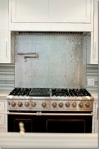 36 best images about kitchen on pinterest stove pot for Different backsplash behind stove
