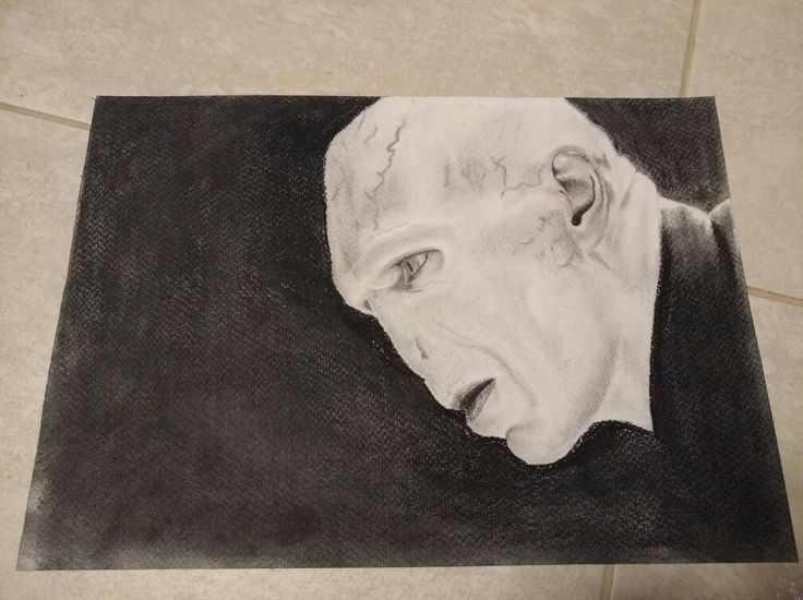 Lord Voldemort from Harry Potter pencil drawing