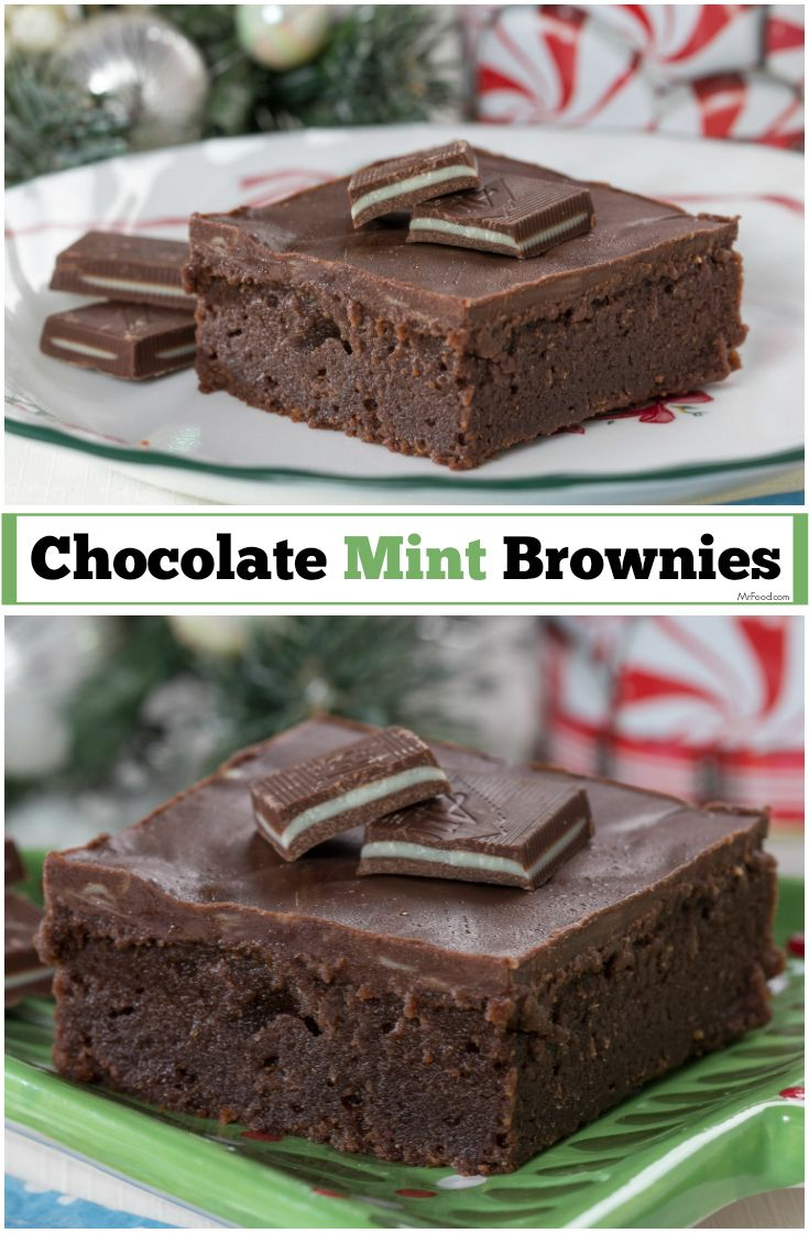 We baked one of our favorite flavors of Christmas right into these homemade chocolate brownies!