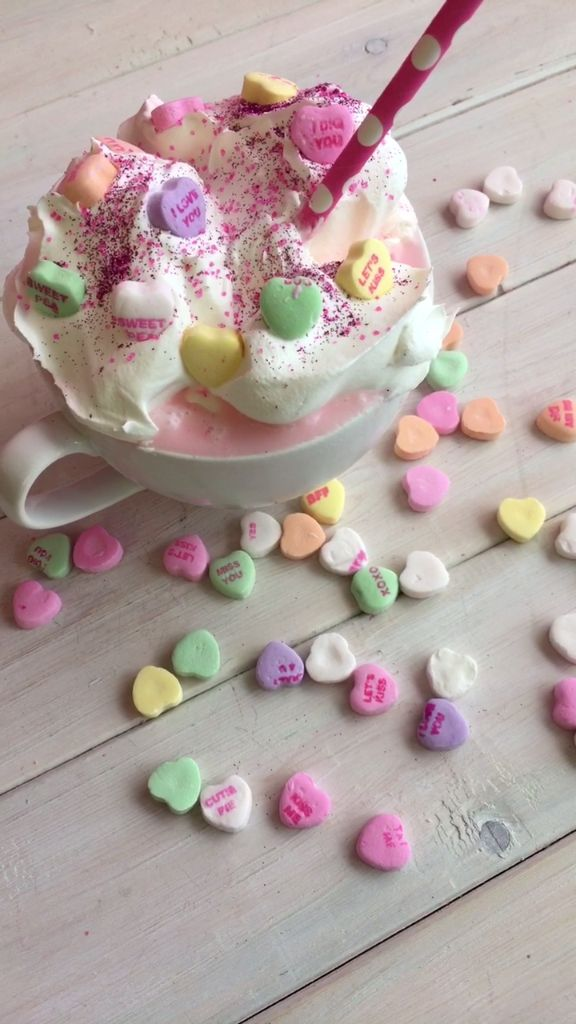 Valentines Day Candy Heart Hot Chocolate