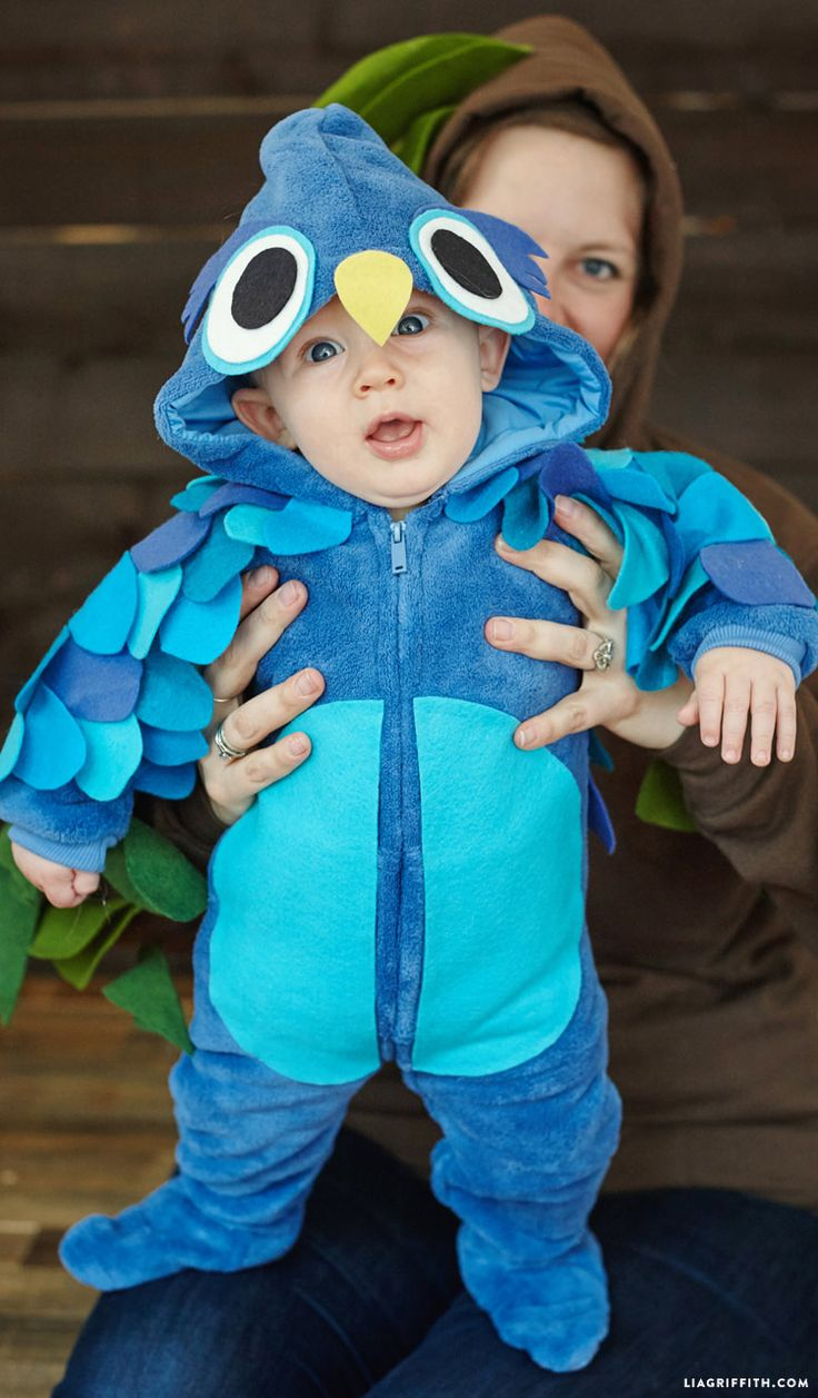 No-Sew Felt Owl Baby Halloween Costume - Lia Griffith