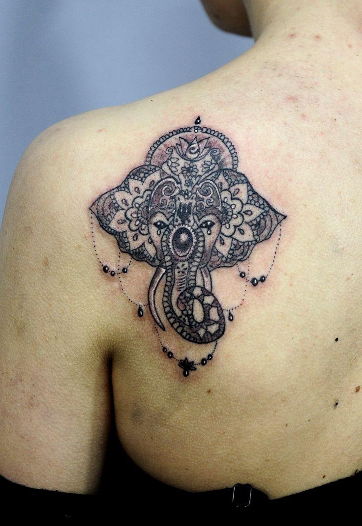 Redberry Tattoo Studio Wrocław #tattoo #inked #ink #studio #wroclaw #warszawa #tatuaz #gdansk #redberry #katowice #berlin #poland #krakow #kraków #kinga #ojrzynska #kingaoj #graphic #slon #slonik #elephant #hinduski #indie