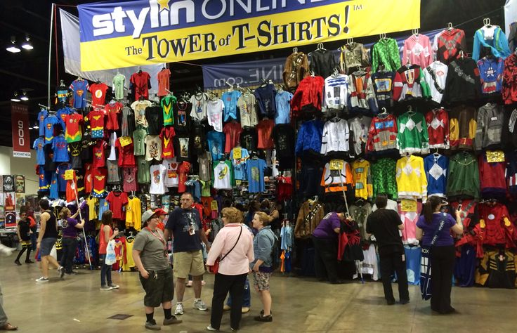 T-shirts at the Denver Comic Con 2014.