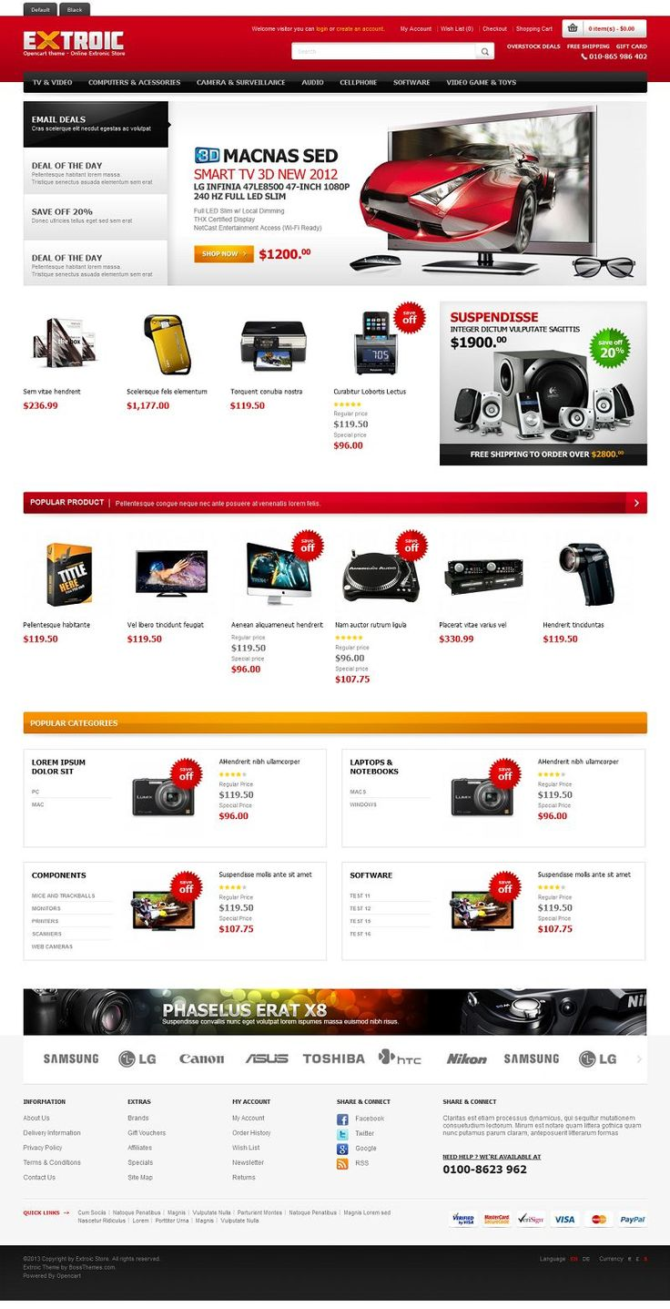 Extroic - Responsive OpenCart Electronics Store Template