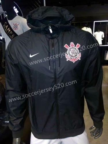 f47116ea4af 2018-19 Corinthians Black Trench Coats With Hat -518