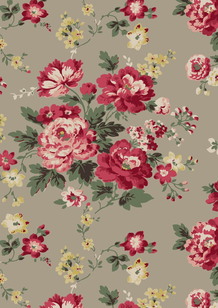 AW15 |  Winter Rose | A favourite vintage-inspired wild rose print from AW07 given a modern new look for AW15 with bold, seasonal colours | Cath Kidston Library Collection AW15 |
