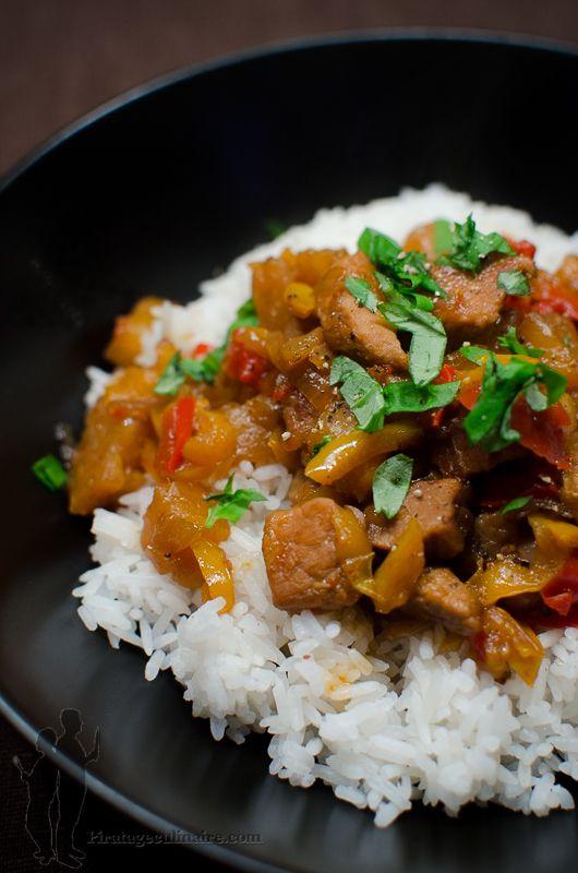 Sauté de porc à l'ananas, au sirop d'érable et au gingembre | Piratage Culinaire