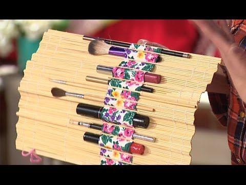Органайзеры для косметики из бамбукового коврика - Все буде добре - Выпуск 346 - 25.02.14 - YouTube