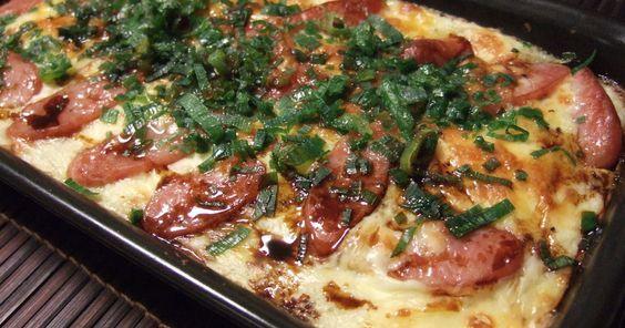 もぅ~、ホント、試してみて~*゚o゚)ノ*゚o゚)ノ*゚o゚)ノおいしいよ~!! 山芋+ベーコン+チーズのグラタン