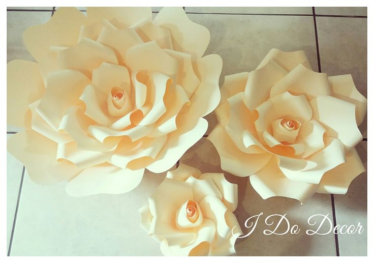 Home Decor, paper flower wall decal set