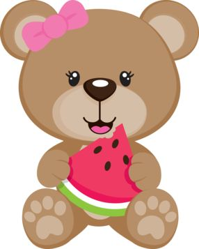 Cute Clipart ❤ SUMMER TEDDY BEAR CLIP ART