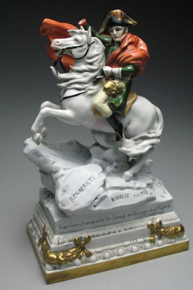 Scarce Scheibe Alsbach Porcelain Figurine Napoleon