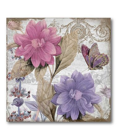 Take a look at this Purple Flower I Canvas Wall Art by COURTSIDE MARKET on #zulily today!