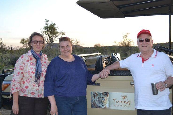 Ilse, Gunter and Daria on Safari at Tuningi Safari Lodge in Madikwe Game reserve