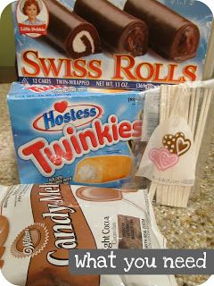 Parties For Pennies: Easiest Cake Pops EVER! Use twinkies and swiss cake rolls. No bake. Now this is very clever and I'm impressed.