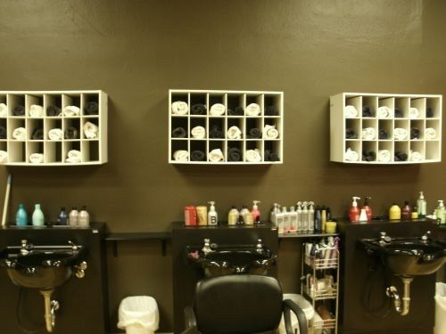 creative salon storage ideas - Beauty Salon Design Ideas