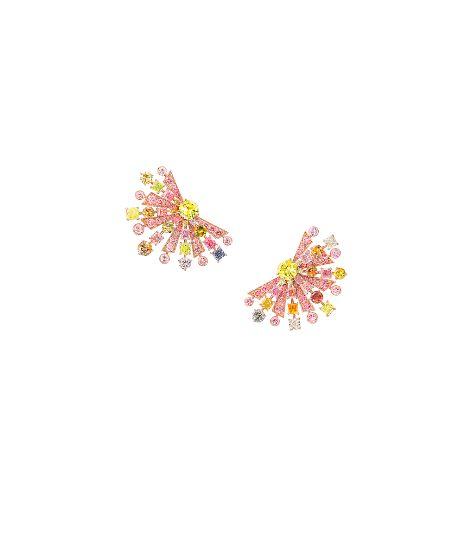 Multicoloured diamond earrings by Graff