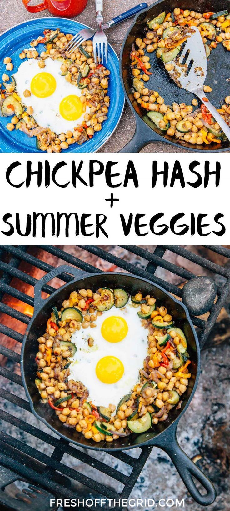 82 best vegetarian camping food images on pinterest camping foods a protein packed update to breakfast hash this chickpea and vegetable breakfast skillet is a forumfinder Gallery