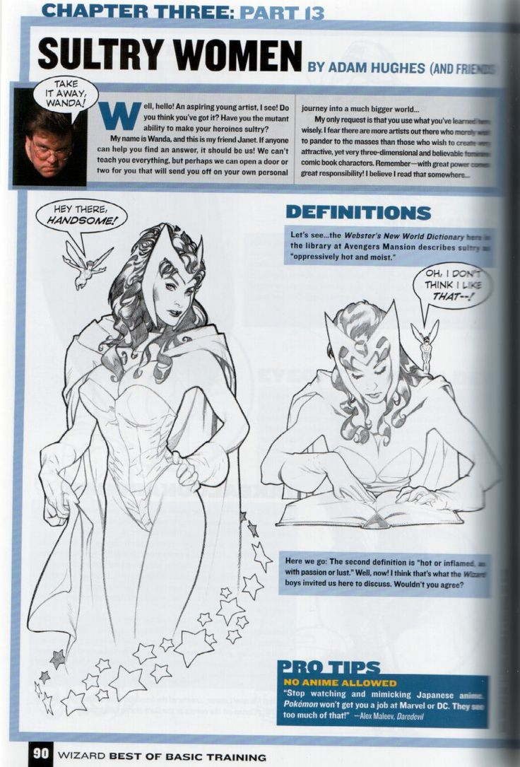 ratcreature: how to draw female comic characters (according to Wizard)...