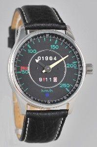 9vor11 Horological: Model F 1963 -´68 Tachometer Armband Uhr mit dem Baujahr Ihres Sportwagen oben im Zifferblatt. Die Baujahre 1963 bis 1998 sind möglich.