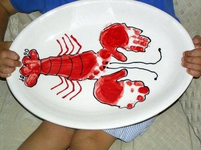 The Entertaining House: great lobster platter craft #joescrabshack #joesmaineevent