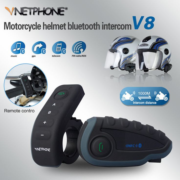 ==> [Free Shipping] Buy Best Remote Control 5 Riders Same Time Talking Bluetooth Motorcycle Helmet Intercom BT Interphone Headset Moto Intercomunicador NFC Online with LOWEST Price | 32739821469